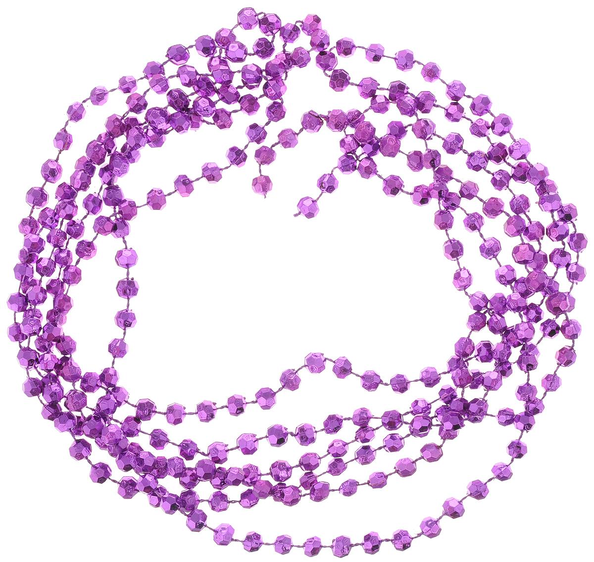 Гирлянда новогодняя Magic Time Пурпурные горошины, 2,7 м42048Новогодняя гирлянда Magic Time Пурпурные горошины,выполненная из полистирола, украсит интерьер вашегодома или офиса в преддверии Нового года. Гирляндапредставляет собой бусины на нити. Оригинальный дизайни красочное исполнение создадут праздничноенастроение.Новогодние украшения всегда несут в себе волшебство икрасоту праздника. Создайте в своем доме атмосферутепла, веселья и радости, украшая его всей семьей. Диаметр бусины: 7 мм.