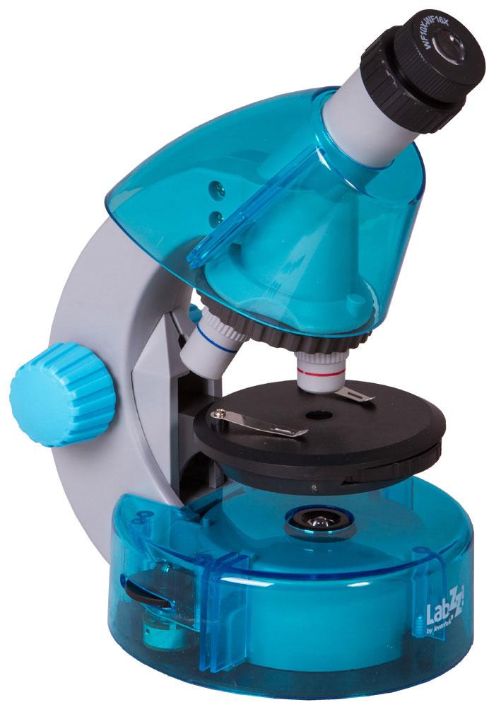 Levenhuk LabZZ M101, Azure микроскоп микроскоп levenhuk rainbow d2l 69040