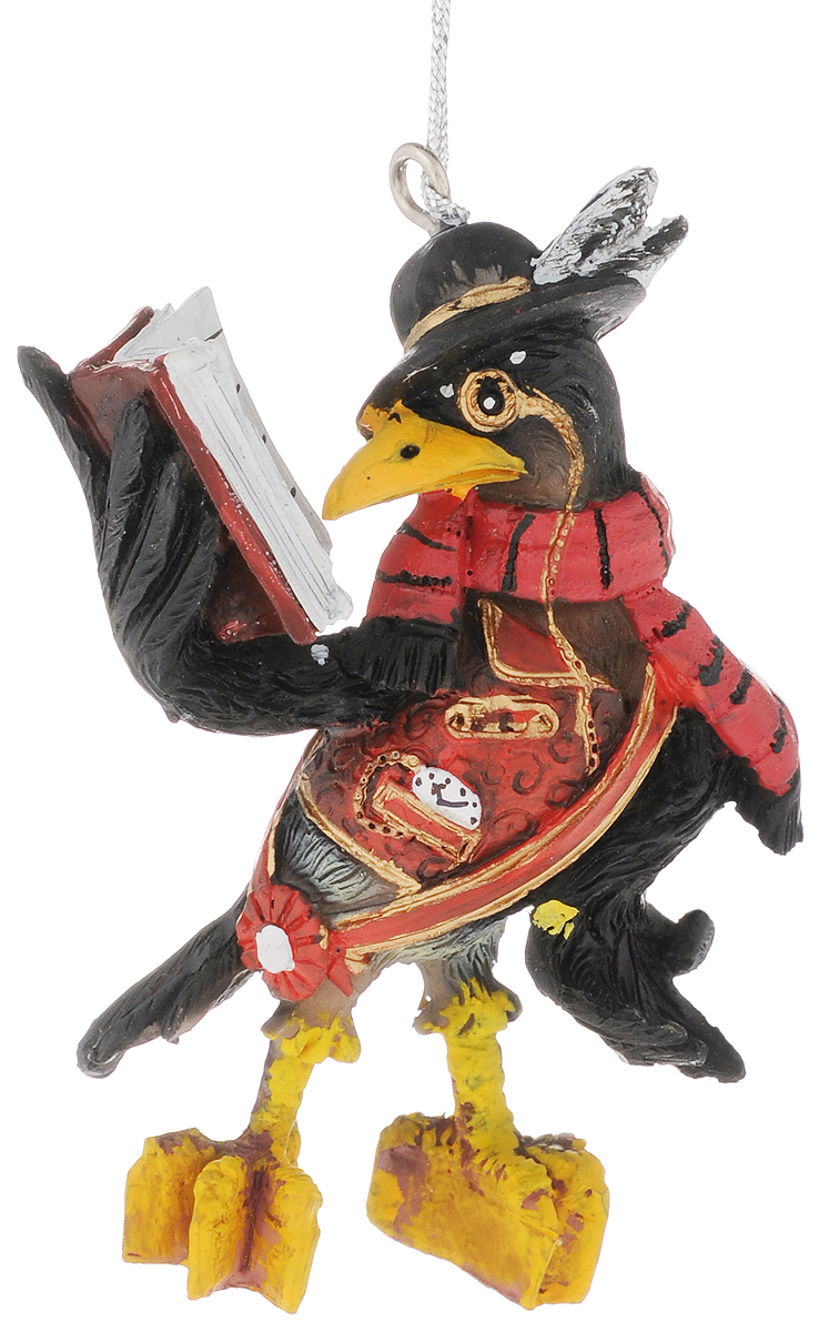 Украшение новогоднее подвесное Феникс-Презент Ворон, высота 8,7 см42172Новогоднее подвесное украшение Феникс-Презент Ворон выполнено из полирезины в виде ворона в шляпе и с книгой. С помощью специальной петельки украшение можно повесить в любом понравившемся вам месте. Но, конечно, удачнее всего оно будет смотреться на праздничной елке.Елочная игрушка - символ Нового года. Она несет в себе волшебство и красоту праздника. Создайте в своем доме атмосферу веселья и радости, украшая новогоднюю елку нарядными игрушками, которые будут из года в год накапливать теплоту воспоминаний.