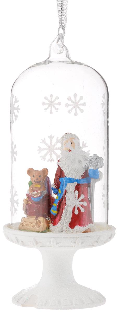 Украшение новогоднее Феникс-Презент Дед Мороз и медвежонок, 6,4 х 6,4 х 16 см новогоднее оконное украшение феникс презент дедушка мороз с девочкой 30 х 38 см