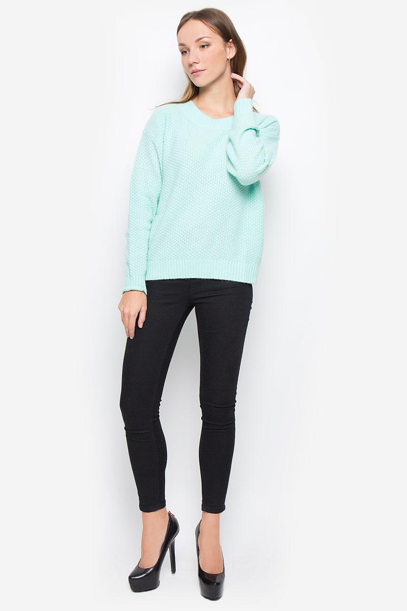 Джемпер женский Baon, цвет: ментоловый. B136536. Размер M (46) джемпер женский baon цвет темно синий b136561 размер m 46
