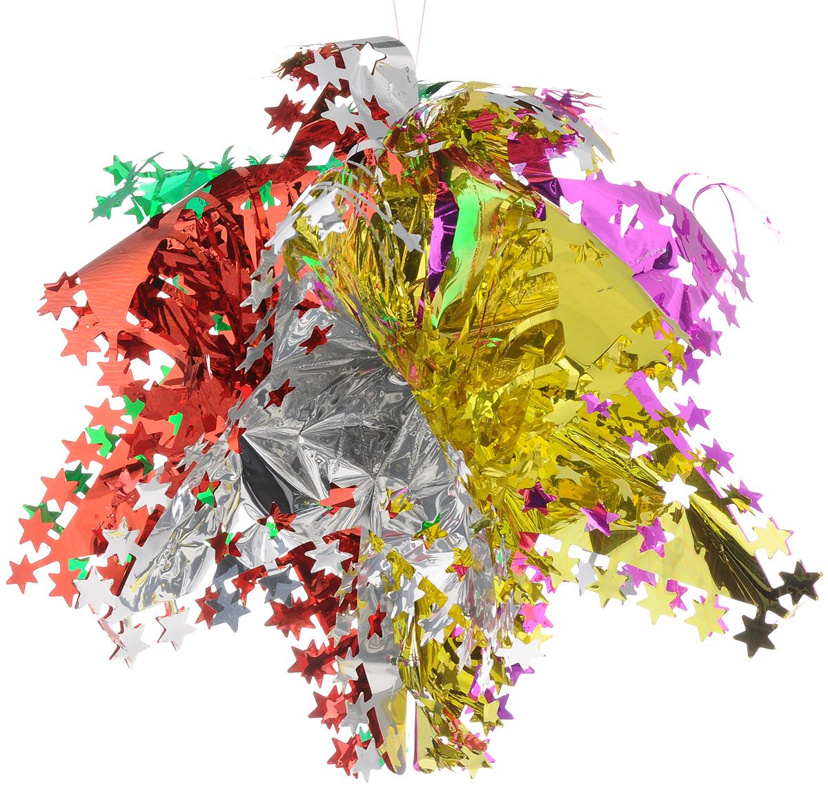Украшение новогоднее подвесное Magic Time Маленькая цветная галактика, 50 x 25 см42125Новогоднее подвесное украшение Magic Time Маленькая цветная галактика выполнено из ПЭТ (полиэтилентерефталат) в виде снежинки. С помощью специальной петельки украшение можно повесить в любом понравившемся вам месте. Игрушка удачно будет смотреться под потолком.Новогоднее украшение Magic Time Маленькая цветная галактика несет в себе волшебство и красоту праздника. Создайте в своем доме атмосферу веселья и радости, с помощью игрушек, которые будут из года в год накапливать теплоту воспоминаний.Материал: полиэтилентерефталат.Размер: 50 x 25 см.