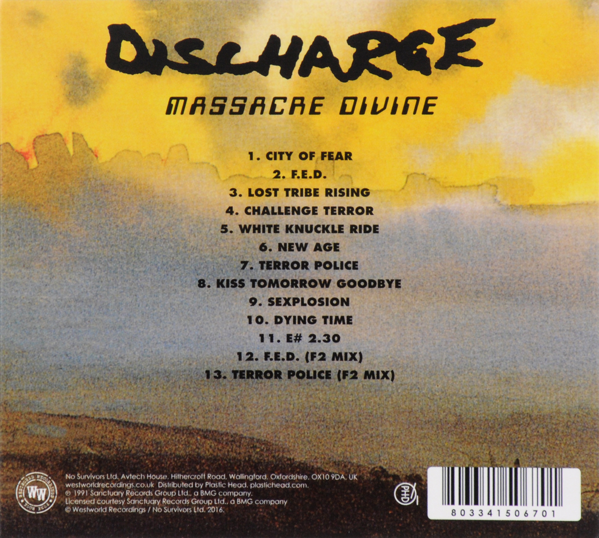 Discharge.  Massacre Divine Волтэкс-инвест,Westworld Recordings