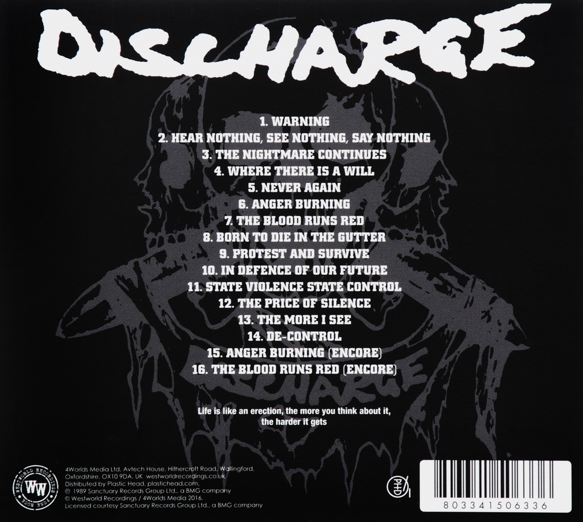 Discharge.  Live At City Garden New Jersey Волтэкс-инвест,Westworld Recordings