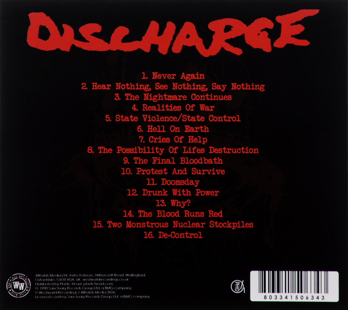 Discharge.  The Nightmare Continues. . .  Волтэкс-инвест,Westworld Recordings