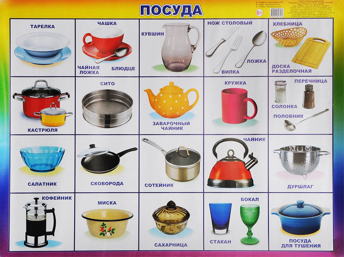 Алфея Обучающий плакат Посуда алфея обучающий плакат малый таблица умножения