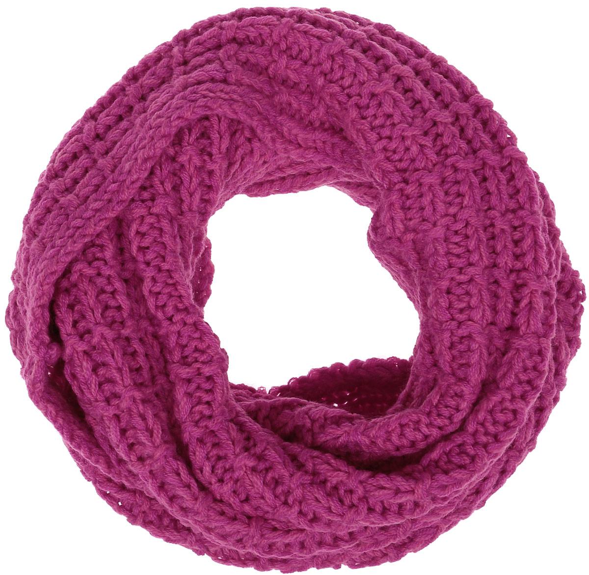 Снуд-хомут женский Baon, цвет: розовый. B330. Размер 125 см х 80 смB330_FLOKSЖенский вязаный снуд-хомут Baon выполнен из высококачественной пряжи из шерсти и акрила. Модель связана кольцом и имеет крупную свободную вязку