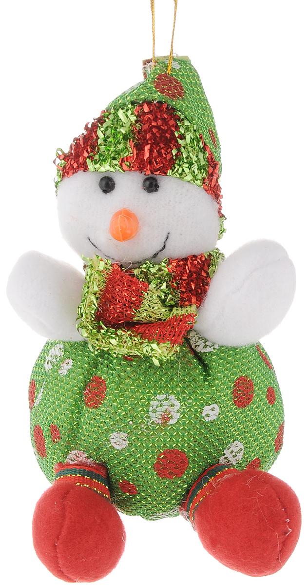 Украшение новогоднее подвесное Феникс-Презент Снеговик, высота 13 см42526Новогоднее украшение Феникс-Презент Снеговик отлично подойдет для декорации вашего домаи новогодней ели. Игрушка выполнена из полиэстера в виде забавного снеговика.Украшение декорировано блестящей нитью и оснащено специальной текстильной петелькойдля подвешивания.Елочная игрушка - символ Нового года. Она несет в себе волшебство и красоту праздника.Создайте в своем доме атмосферу веселья и радости, украшая всей семьей новогоднююелку нарядными игрушками, которые будут из года в год накапливать теплоту воспоминаний.