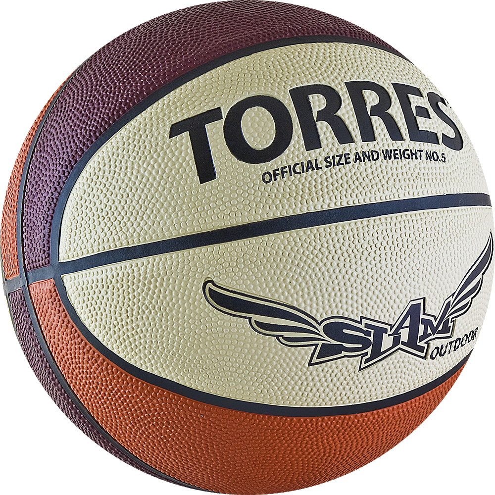 Мяч баскетбольный Torres Slam, цвет: бежевый, бордовый, оранжевый. Размер 728258972Основные характеристикиВид: баскетбольныйУровень игры: тренировочныйРазмер: 7Количество панелей: 8Тип соединения панелей: клееныйВес: 567-650грОкружность: 74,9-78смЦвет основной: оранжевыйЦвет дополнительный: бордовый, бежевый, черныйМатериал камеры: бутиловаяМатериал обмотки камеры: нейлонМатериал покрышки: резинаПодходит для игры на улице и в залеСтрана-производитель: Китай Упаковка: пакет (поставляется в сдутом виде)Поверхность из износостойкой резины с глубокими каналами позволяет эксплуатировать мяч для игры на любых типах поверхностей, в том числе и на жесткихРазмер 7 для мужчин и для юниоров старше 15 лет.