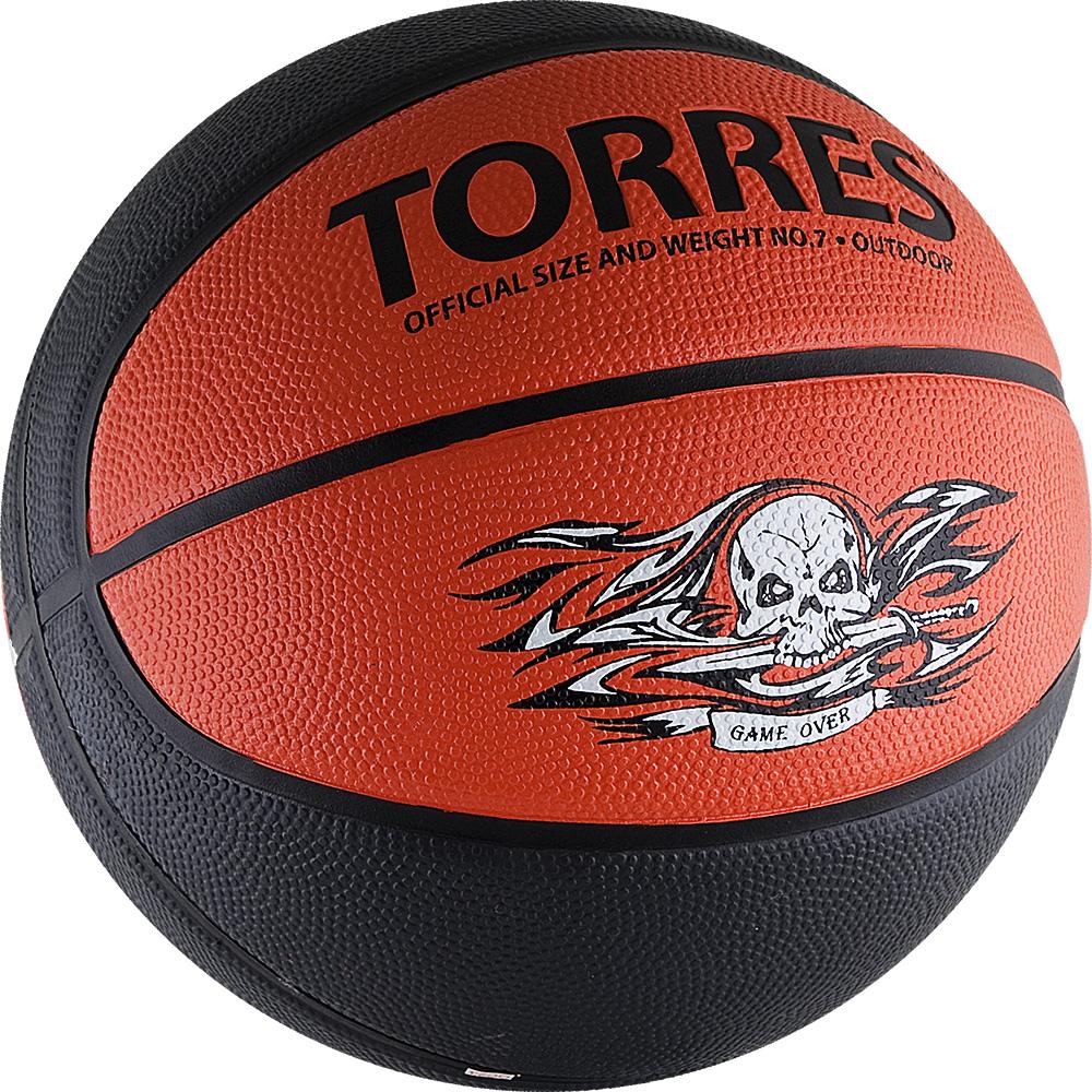 Мяч баскетбольный Torres Game Over, цвет: серый, красный. Размер 7120335_white/blackМяч баскетбольный Torres Game Over отлично подойдет для любительских игр в зале и на улице. Преимущества: - мяч изготовлен благодаря новейшим технологиям и с учетом особенностей кисти, что позволяет добиваться высоких результатов,- покрытие из синтетической кожи хорошо впитывает влагу с ладоней, что способствует хорошему контролю мяча, - глубокие каналы помогают четко ощущать поверхность мяча.