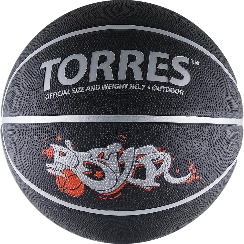 Мяч баскетбольный Torres Prayer, цвет: черный, красный, серебристый. Размер 7 мяч баскетбольный torres jam арт b000470