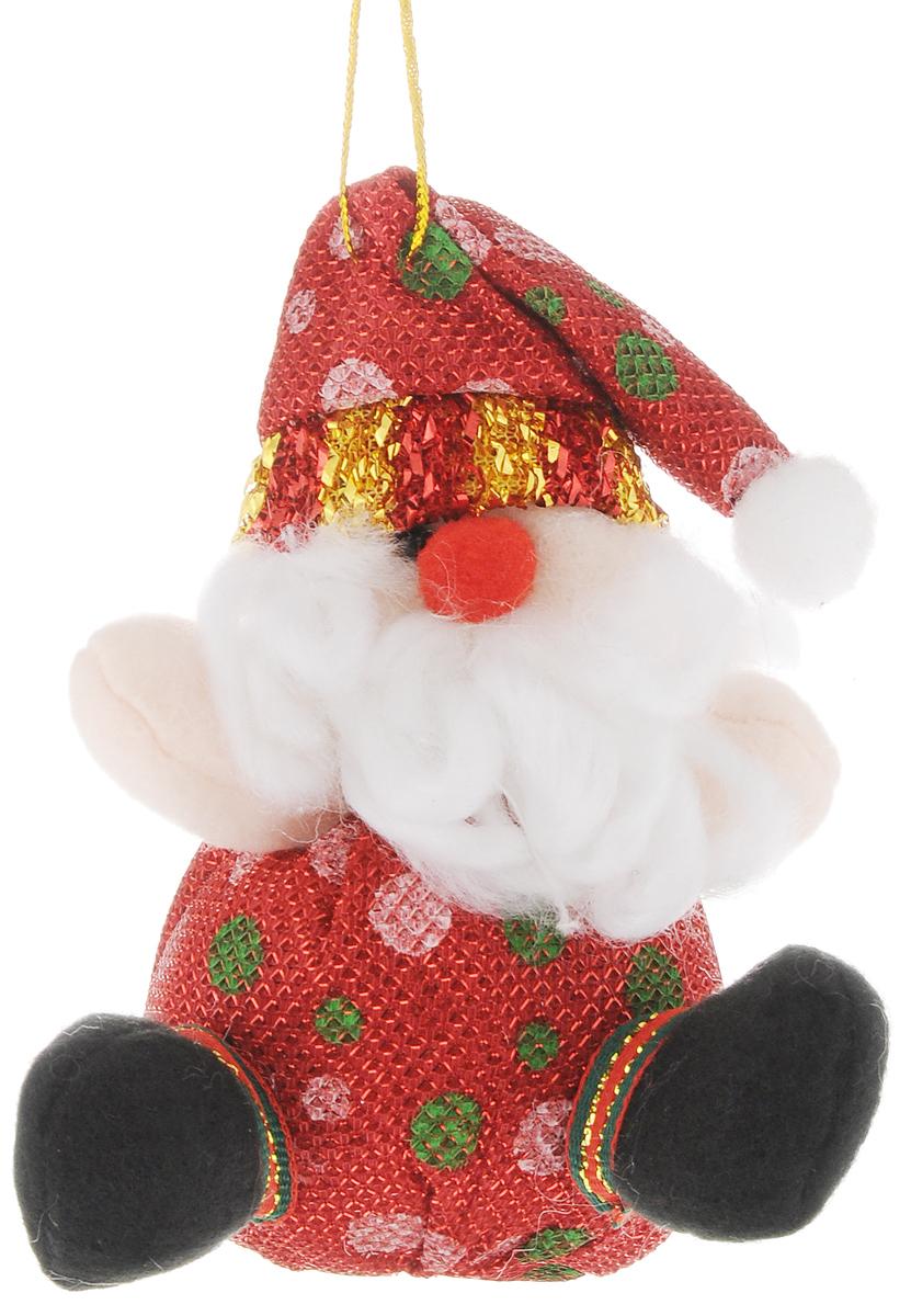 """Новогоднее украшение Феникс-Презент """"Дед Мороз"""" отлично подойдет для декорации вашего дома  и новогодней ели. Игрушка выполнена из полиэстера в виде забавного Деда Мороза.  Украшение декорировано блестящей нитью и оснащено специальной текстильной петелькой  для подвешивания.  Елочная игрушка - символ Нового года. Она несет в себе волшебство и красоту праздника.  Создайте в своем доме атмосферу веселья и радости, украшая всей семьей новогоднюю  елку нарядными игрушками, которые будут из года в год накапливать теплоту воспоминаний."""
