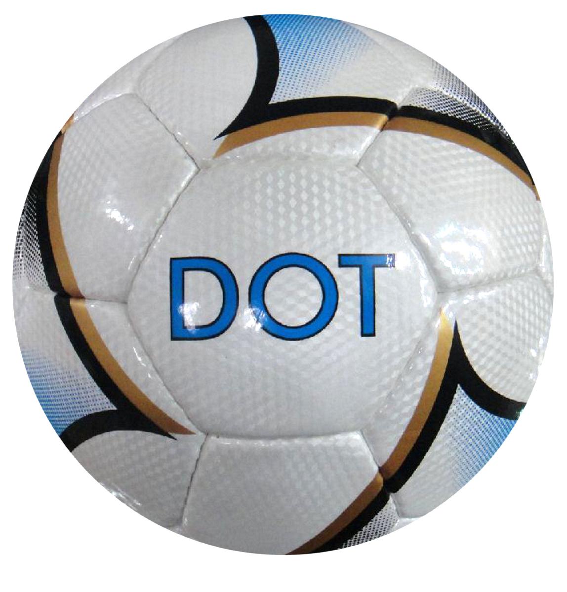 Мяч футбольный Atlas Dot, цвет: белый, черный, золотой. Размер 528261915Футбольный мяч Atlas Dot предназначен для проведения соревнований и игр команд среднего и любительского уровней, отлично подходит и для интенсивных тренировок. Мяч подходит для игры на любых поверхностях, но особенно рекомендуется для натуральных и искусственных газонов, полей с синтетическим покрытием различной степени жесткости. Также подходит для игры в любых погодных условиях (при соблюдении условий эксплуатации и ухода).Состоит из 32 панелей и 4 подкладочных слоев. Камера выполнена из латекса, она имеет бутиловый нипель, а покрышка из синтетической кожи.