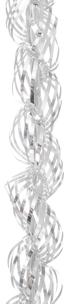Мишура новогодняя Magic Time, цвет: серебристый, диаметр 4 см, длина 1,5 м38185Мишура новогодняя Magic Time, выполненная из ПЭТ (полиэтилентерефталата), поможет вам украсить свой дом к предстоящим праздникам. Новогодняя елка с таким украшением станет еще наряднее. Новогодней мишурой можно украсить все, что угодно - елку, квартиру, дачу, офис - как внутри, так и снаружи. Можно сложить новогодние поздравления, буквы и цифры, мишурой можно украсить и дополнить гирлянды, можно выделить дверные колонны, оплести дверные проемы.