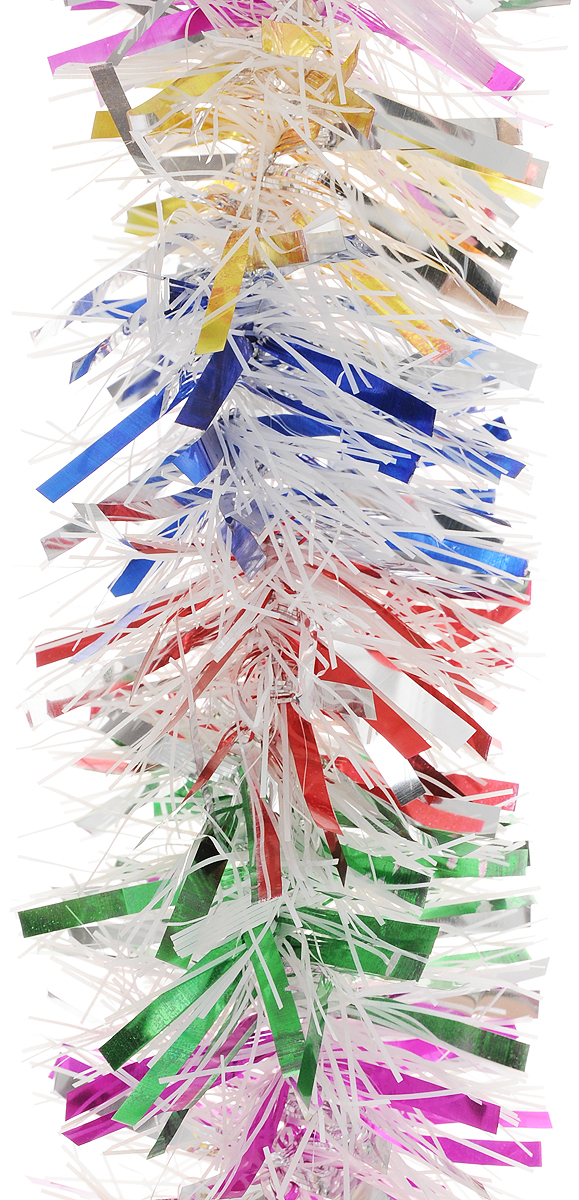Мишура новогодняя Magic Time, цвет: белый, розовый, синий, диаметр 9 см, длина 2 м. 4213142131Мишура новогодняя Magic Time, выполненная из ПЭТ (полиэтилентерефталата), поможет вам украсить свой дом к предстоящим праздникам. Мишура армирована, то есть имеет проволоку внутри и способна сохранять форму.Новогодняя елка с таким украшением станет еще наряднее. Новогодней мишурой можно украсить все, что угодно - елку, квартиру, дачу, офис - как внутри, так и снаружи. Можно сложить новогодние поздравления, буквы и цифры, мишурой можно украсить и дополнить гирлянды, можно выделить дверные колонны, оплести дверные проемы.
