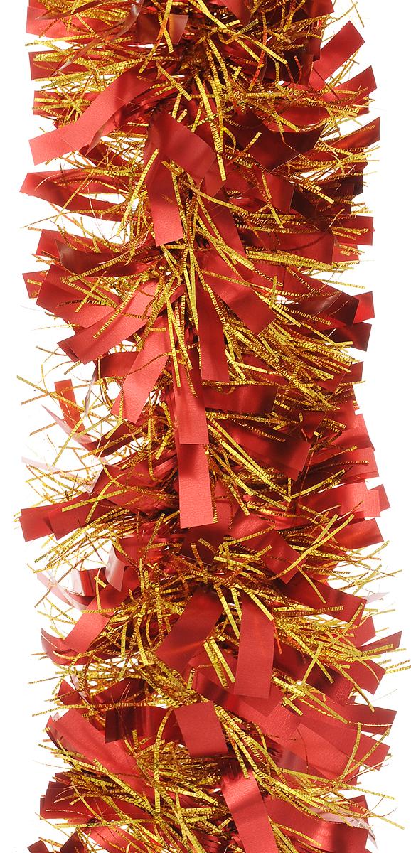 Мишура новогодняя Magic Time, цвет: красный, золотистый, диаметр 9 см, длина 200 см. 421242129/75731Мишура новогодняя Magic Time, выполненная из ПЭТ (полиэтилентерефталата), поможет вам украсить свой дом к предстоящим праздникам. Мишура армирована, то есть имеет проволоку внутри и способна сохранять приданную ей форму.Новогодняя елка с таким украшением станет еще наряднее. Новогодней мишурой можно украсить все, что угодно - елку, квартиру, дачу, офис - как внутри, так и снаружи. Можно сложить новогодние поздравления, буквы и цифры, мишурой можно украсить и дополнить гирлянды, можно выделить дверные колонны, оплести дверные проемы.