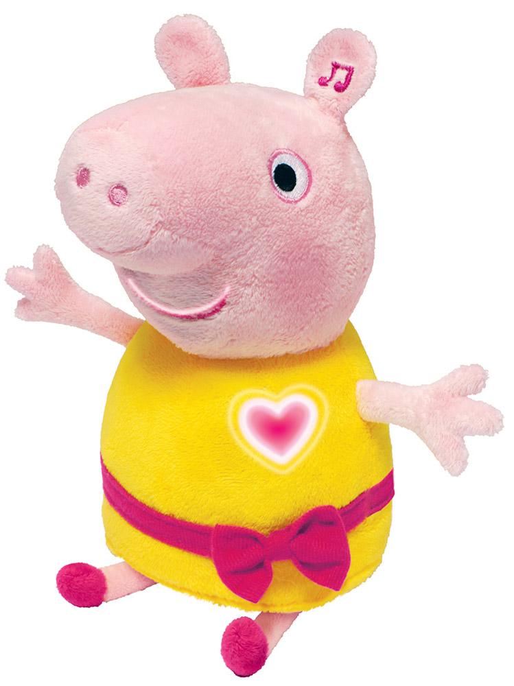 Peppa Pig Мягкая озвученная игрушка Пеппа цвет розовый желтый 30 см мягкие игрушки peppa pig мягкая игрушка пеппа модница 20 см
