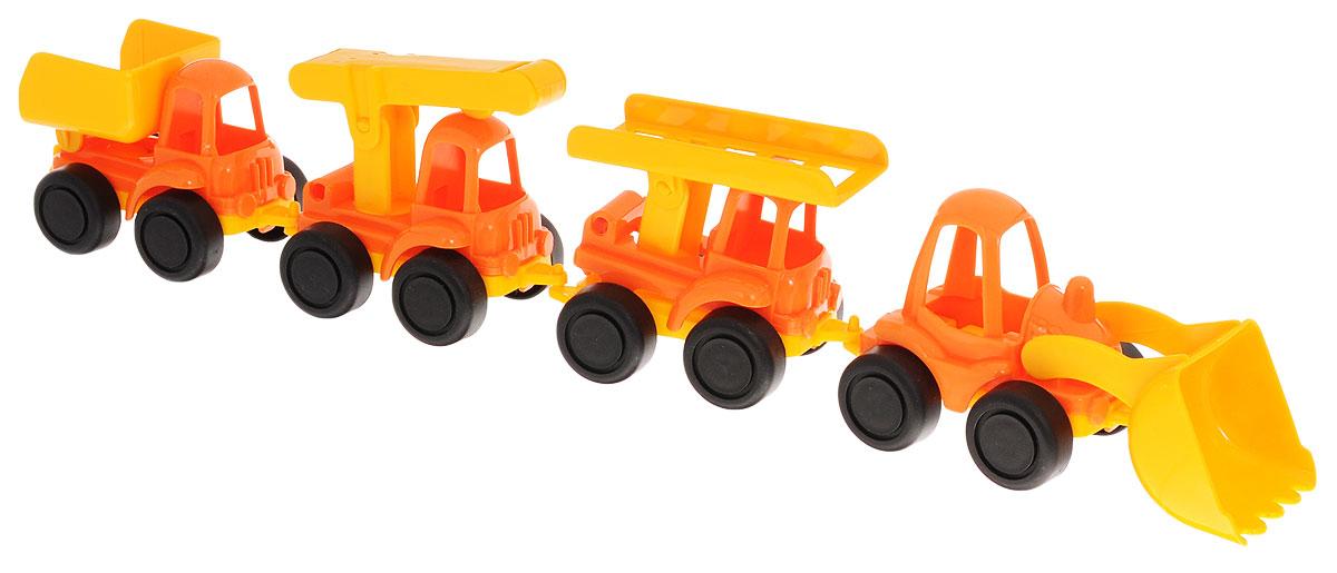 Нордпласт Набор строительной техники Нордик 4 шт игрушечные инструменты технопарк набор строительной техники