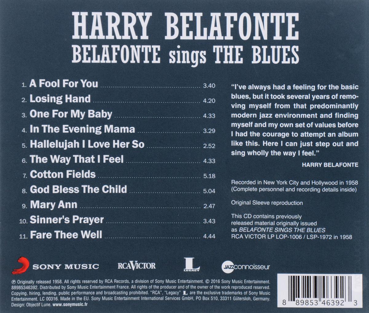 Harry Belafonte.  Belafonte Sings The Blues Warner Music,Sony Music Entertainment, Inc.