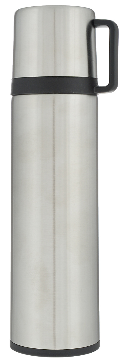 Термос Tescoma Constant, с крышкой-кружкой, цвет: серебристый, 0,5л318522Термос Tescoma Constant - это вакуумный термос с двойной колбой из высококачественной нержавеющей стали. Термос сохраняет напитки горячими и холодными на протяжении длительного времени. Оснащен крышкой и пробкой с кнопкой для удобного розлива без снижения температуры. Термос Tescoma Constant прекрасно подходит для дома, офиса и для путешествий. Сохранение температуры в термосе зависит от количества и температуры напитка, от частоты его открывания и от температуры воздуха.Диаметр термоса по верхнему краю: 4,5 см.Диаметр дна: 7 см.Высота термоса с учетом крышки: 25,7 см.