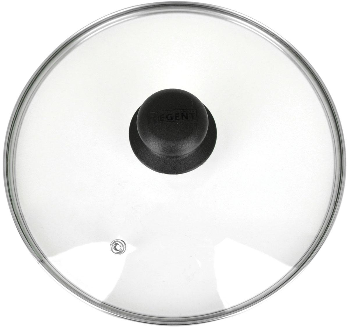 Крышка стеклянная Regent Inox. Диаметр 14 см93-LID-01-14Стеклянная крышка Regent Inox изготовлена из жаропрочного стекла. Металлический обод защищает крышку от повреждений, а ручка-кнопка, выполненная из термостойкого пластика, защищает ваши руки от высоких температур. Крышка удобна в использовании, позволяет контролировать процесс приготовления пищи. Имеется отверстие для выпуска пара. Характеристики: Материал: стекло, металл, пластик. Диаметр крышки: 14 см. Размер упаковки: 15 см х 15 см х 1,5 см.