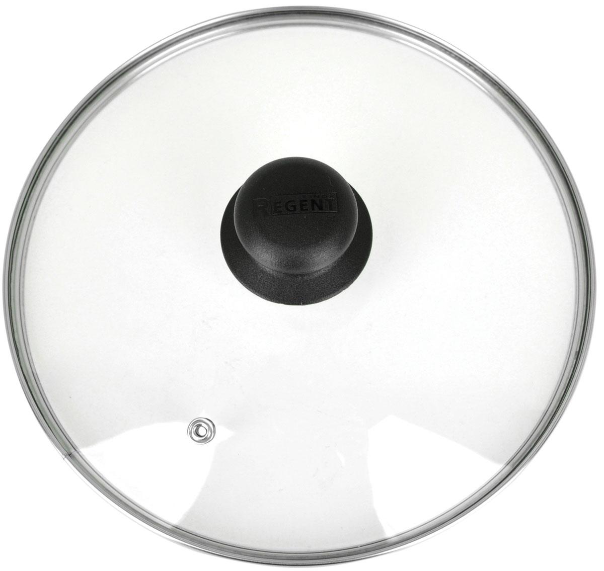 Крышка Regent Inox, стеклянная. Диаметр 28 см619022Крышка Regent Inox изготовлена из термостойкого стекла. Обод, выполненный из высококачественной нержавеющей стали, защищает крышку от повреждений, а ручка, выполненная из термостойкого пластика, защищает ваши руки от высоких температур. Крышка удобна в использовании, позволяет контролировать процесс приготовления пищи. Имеется отверстие для выпуска пара. Характеристики:Материал: стекло, нержавеющая сталь, пластик. Диаметр: 28 см. Размер упаковки: 28 см х 28 см х 6 см. Производитель:Италия. Артикул: 28.