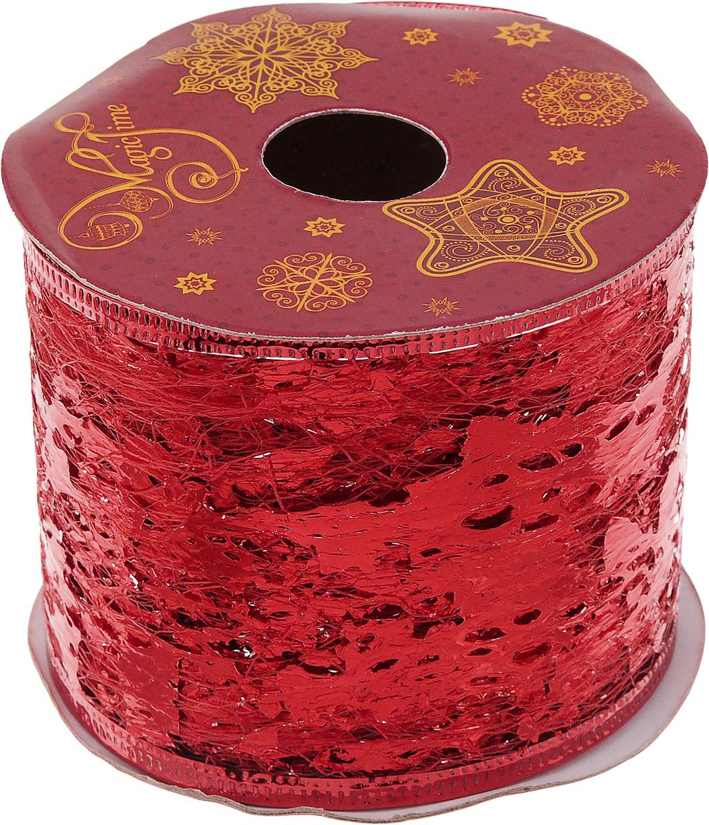 Лента новогодняя Magic Time Фольга, цвет: красный, 6,3 см х 2,7 м4610009214337Новогодняя декоративная лента Magic Time Фольгавыполненаиз полиэстера. Вкрая ленты вставлена проволока, благодаря чему еелегко фиксировать. Лента предназначена для оформленияподарочных коробок,пакетов. Кроме того, декоративная лента с успехомприменяется дляхудожественного оформления витрин, праздничногооформления помещений, изготовления искусственныхцветов.Декоративная лента украсит интерьер вашего дома кпраздникам.Ширина ленты: 6,3 см.
