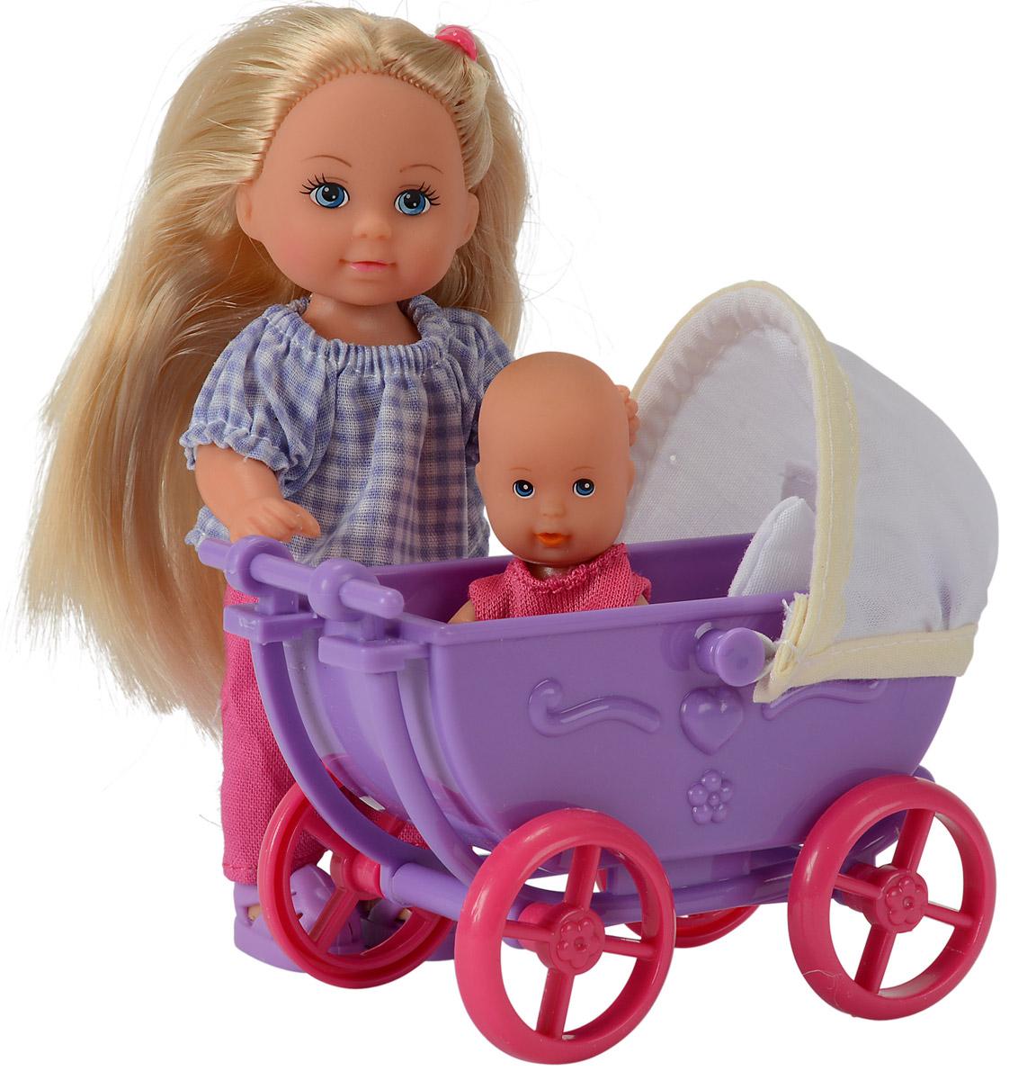 Simba Кукла Еви в брюках с малышом 5736241 simba игровой набор с мини куклой evi love fairy carriage