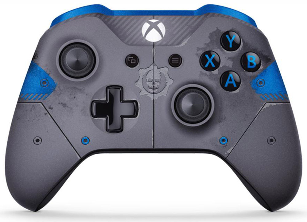 Xbox One Gears of War 4 JD Fenix беспроводной геймпад синий (Blue) купить клавиатура и мышь для xbox one