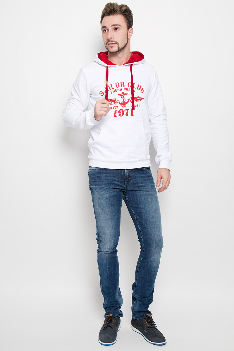 Толстовка мужская RAV, цвет: белый. RAV01-001. Размер S (46) футболка поло мужская rav rav01 021