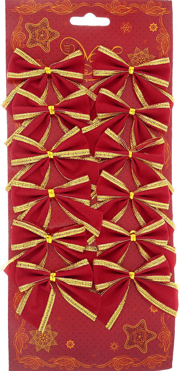 Украшение новогоднее Magic Time Бант с тесьмой, цвет: красный, золотой, 6 х 5 см42767/76237Новогоднее украшение Феникс-Презент Бант с тесьмой отлично подойдет для декорирования вашего дома и новогодней ели. Игрушка выполнена из полиэстера в виде бантика. Украшение можно привязать к ели.Елочная игрушка - символ Нового года. Она несет в себе волшебство и красоту праздника. Создайте в своем доме атмосферу веселья и радости, украшая всей семьей новогоднюю елку нарядными игрушками, которые будут из года в год накапливать теплоту воспоминаний.