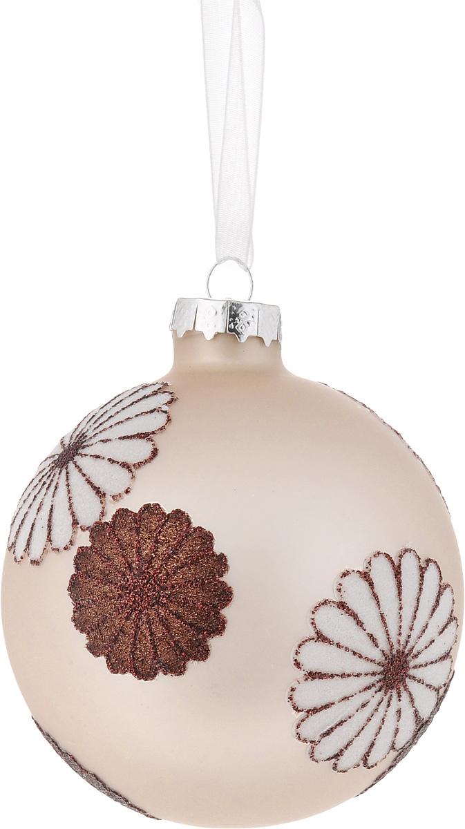 Украшение новогоднее подвесное Magic Time Шар. Снежные цветы, диаметр 8 см42333Новогоднее подвесное украшение Magic Time Шар. Снежные цветы прекрасно подойдет для декора новогодней ели, оно создаст волшебное зимнее настроение и подарит ощущение приближающегося праздника. Изделие выполнено из стекла, украшено глиттером. Игрушка снабжена текстильной петелькой для подвешивания на елку. Елочная игрушка - символ Нового года. Она несет в себе волшебство и красоту праздника. Создайте в своем доме атмосферу веселья и радости, украшая всей семьей новогоднюю елку нарядными игрушками, которые будут из года в год накапливать теплоту воспоминаний.