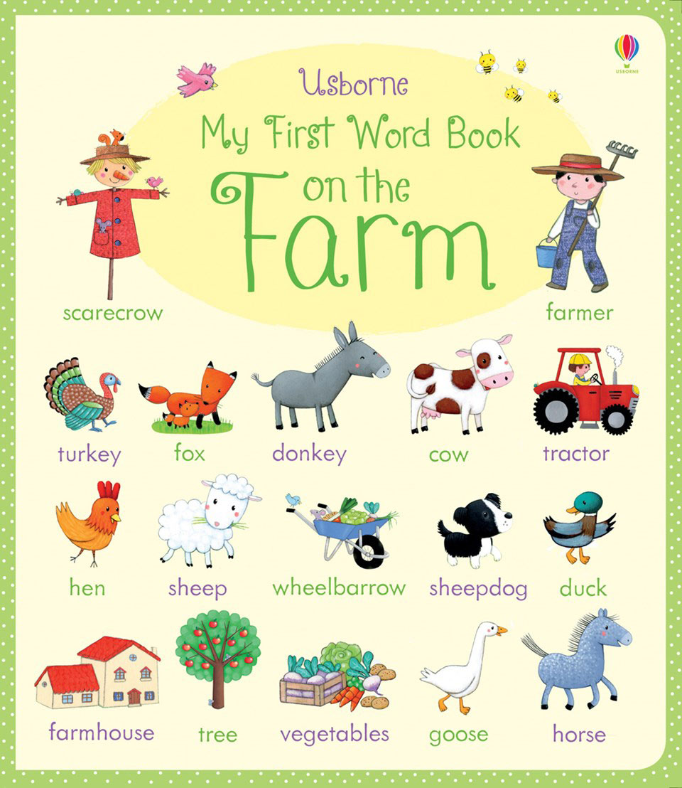 My First Word Book: On the Farm my first book about food