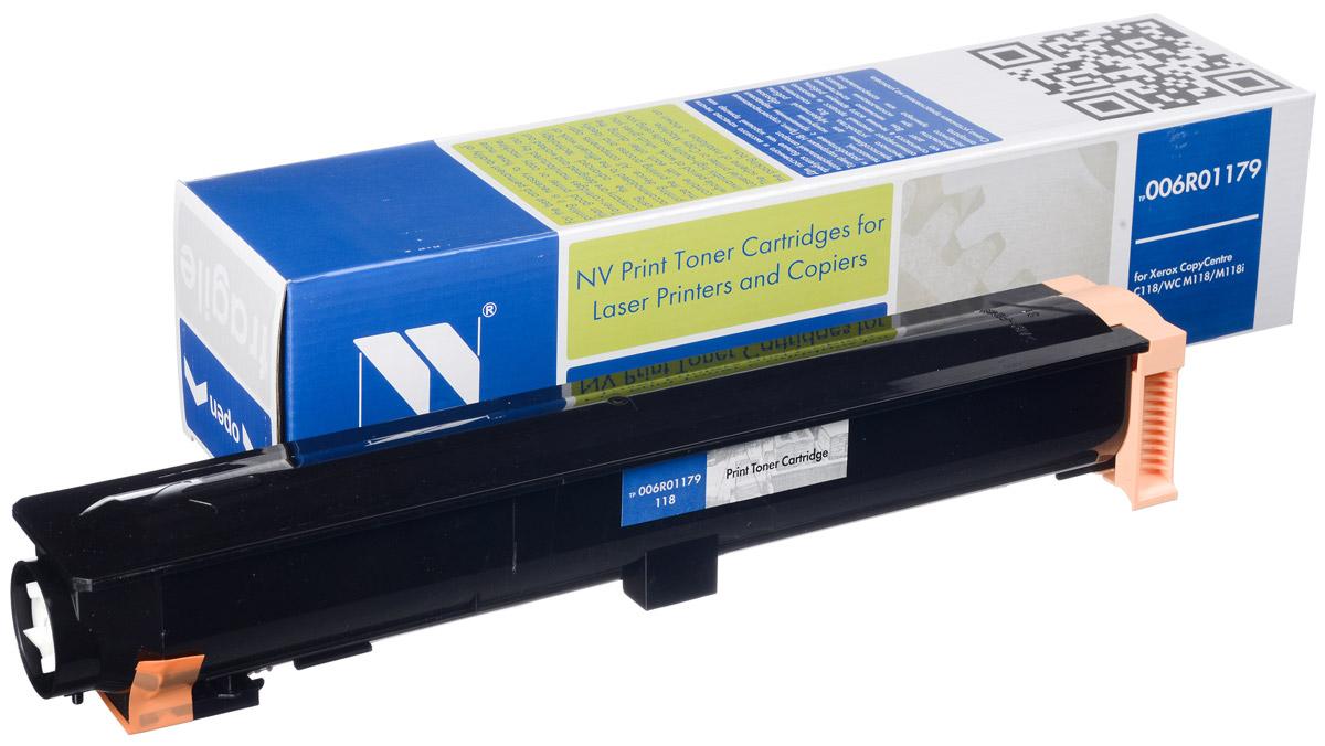 NV Print 006R01179, Black тонер-картридж для Xerox WC C118/M118/M118iNV-006R01179Совместимый лазерный картридж NV Print 006R01179 для печатающих устройств Xerox WC - это альтернатива приобретению оригинальных расходных материалов. При этом качество печати остается высоким. Картридж обеспечивает повышенную чёткость чёрного текста и плавность переходов оттенков серого цвета и полутонов, позволяет отображать мельчайшие детали изображения.Лазерные принтеры, копировальные аппараты и МФУ являются более выгодными в печати, чем струйные устройства, так как лазерных картриджей хватает на значительно большее количество отпечатков, чем обычных. Для печати в данном случае используются не чернила, а тонер.