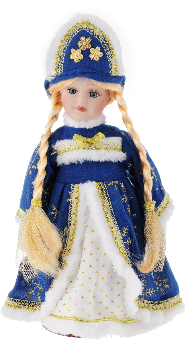 Кукла декоративная Magic Time Снегурочка Наташенька, на подставке, высота 30 см rk 620 кукла мешочек снегурочка