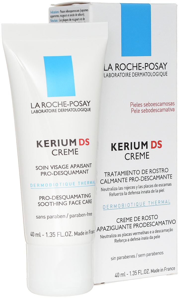 La Roche-Posay Kerium DS Крем, 40 млM0137401Kerium DS крем разработан для лечения себорейного дерматита. Благодаря высокой концентрации Термального дермобиотика 5% эффективно устраняет раздражение, покраснение и шелушение. Благодаря пироктон оламину и цинку обеспечивает противогрибковое, антибактериальное и себорегулирующее действия, а так же успокаивает, смягчает и увлажняет за счет липоаминокислот и термальной воды.Результат сохраняется 6 недель после 1 месяца применения.