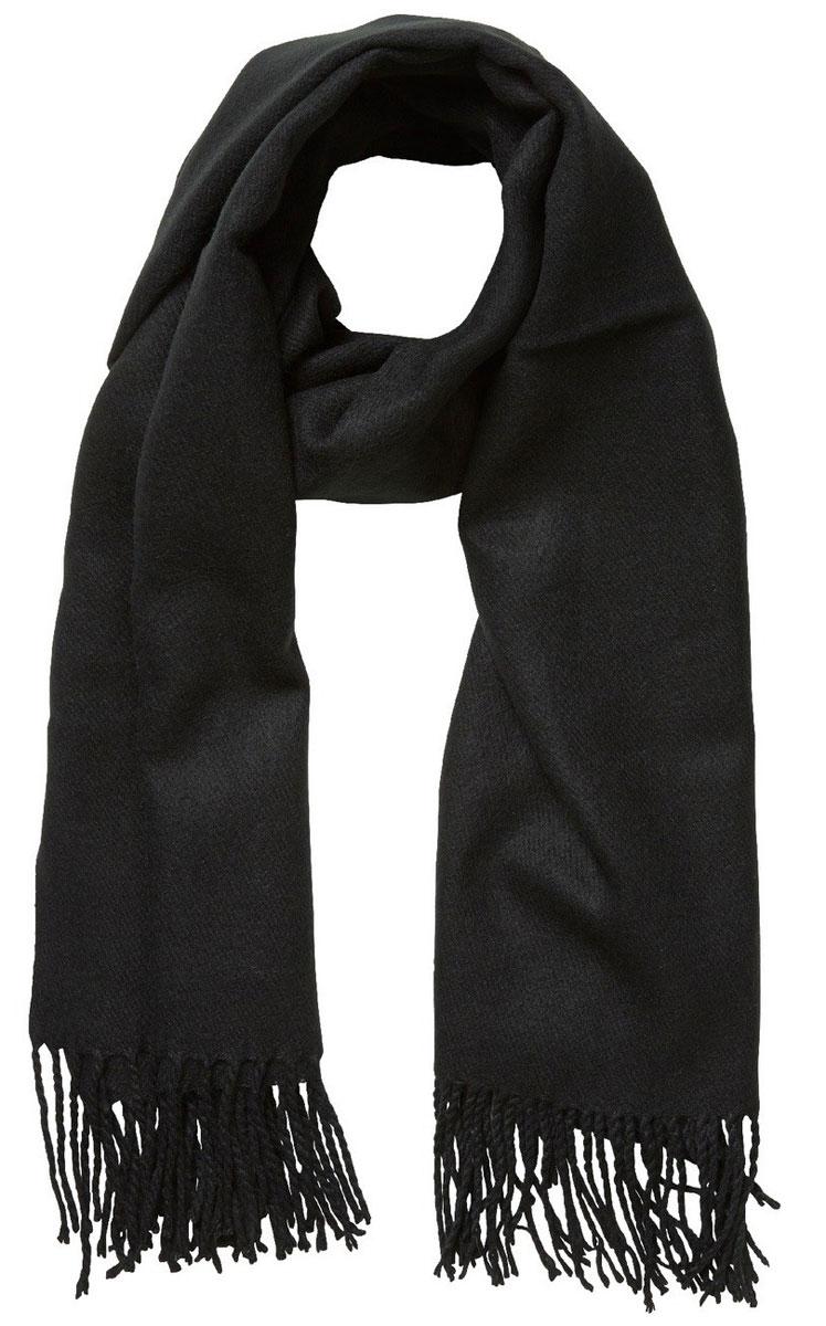 Палантин женский Vero Moda, цвет: черный. 10137899. Размер универсальный кардиган женский vero moda цвет черный светло серый 10166453 размер s 42