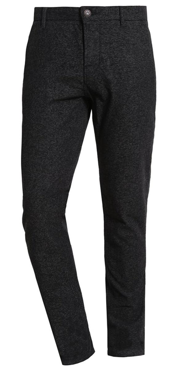 Брюки мужские Only & Sons, цвет: темно-серый. 22004423. Размер 31-34 (46-34)22004423_Dark Grey MelangeСтильные мужские брюки Only & Sons выполнены из хлопка с добавлением полиэстера и эластана. Модель застегивается на пуговицы, также имеются шлевки для ремня. Спереди изделие оформлено двумя втачными карманами, сзади - двумя прорезными карманами.