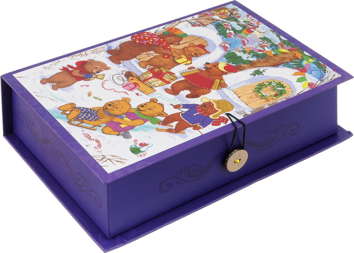 Коробка подарочная Феникс-Презент Медвежата, 20 х 14 х 6 см41789Подарочная коробка Феникс-Презент Медвежата, выполненная изплотного картона,закрывается на пуговицу. Крышка оформлена ярким изображением. Подарочная коробка - это наилучшее решение, если вы хотите порадовать вашихблизких и создать праздничное настроение, ведь подарок, преподнесенный воригинальной упаковке, всегда будет самым эффектным и запоминающимся.Окружите близких людей вниманием и заботой, вручив презент в нарядном,праздничном оформлении. Плотность картона: 1100 г/м2.