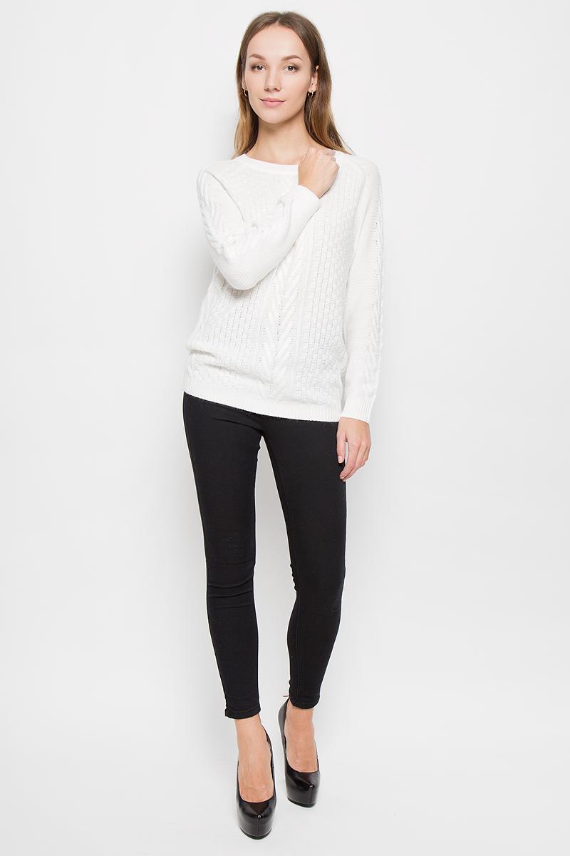 Джемпер женский Baon, цвет: молочный. B136505. Размер XL (50) кардиган женский baon цвет черный b147505 black размер xl 50