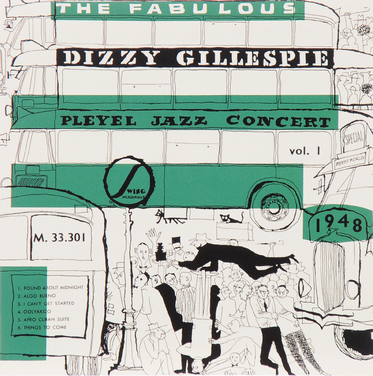 Диззи Гиллеспи Dizzy Gillespie. Pleyel Jazz Concert 1948 professional selmer 54 bb tenor saxophone brass concert music instrument sax nickel plated shell buttons with case mouthpiece
