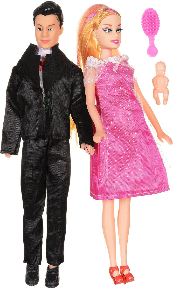 Shantou Набор кукол цвет одежды черный ярко-розовый 2 шт