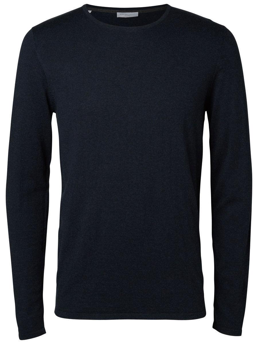 Джемпер мужской Selected Homme, цвет: темно-синий. 16052156. Размер XL (50) пуловер мужской selected homme identity цвет бордовый 16051696 размер l 48