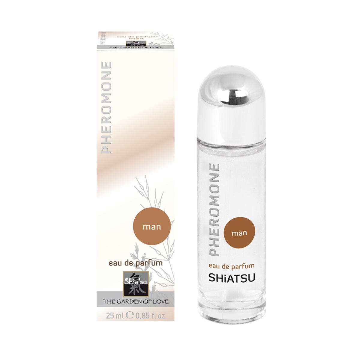 Shiatsu Мужские духи с феромонами Shiatsu, 25 мл66101Высококачественный парфюм, обогащенный феромонами. Стильный мужской аромат поразит всех женщин.