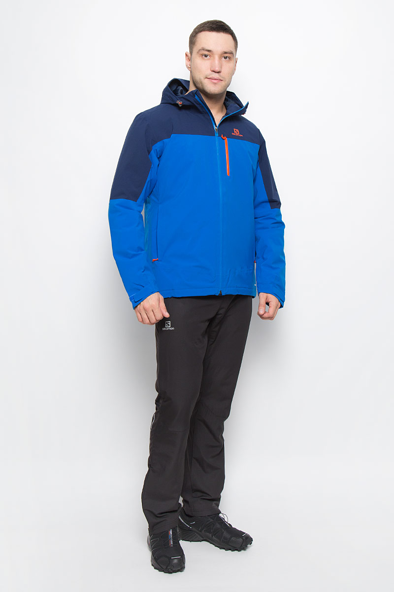 Куртка мужская Salomon La Cote Insulated, цвет: темно-синий, синий. L38312400. Размер XXL (60)  цена и фото