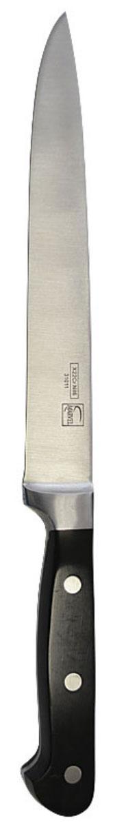Нож для мяса Marvel Profession Knives, длина лезвия 20 см. 3101131011Нож Marvel изготовлен из высококачественной стали. Рукоятка не скользит в руке и делает резку удобной и безопасной. Этот нож идеально подходит для нарезки мяса. Он займет достойное место среди аксессуаров на вашей кухне.