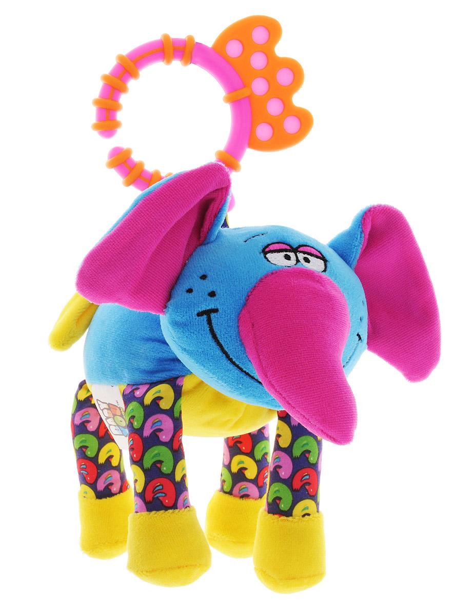 Bondibon Мягкая развивающая игрушка-растяжка Слон bondibon мягкая игрушка погремушка слоник