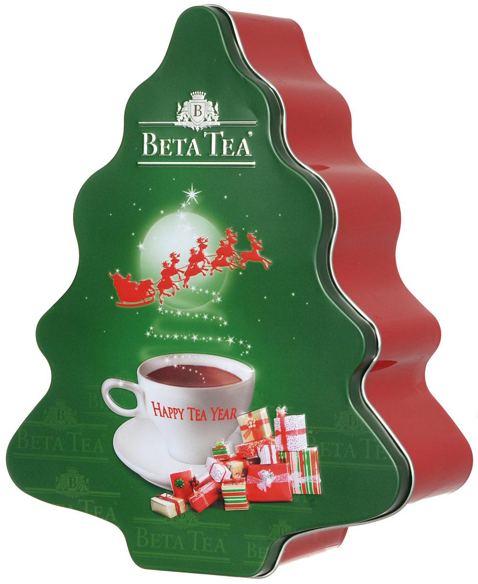 Beta Tea Елка черный листовой чай, 125 г,