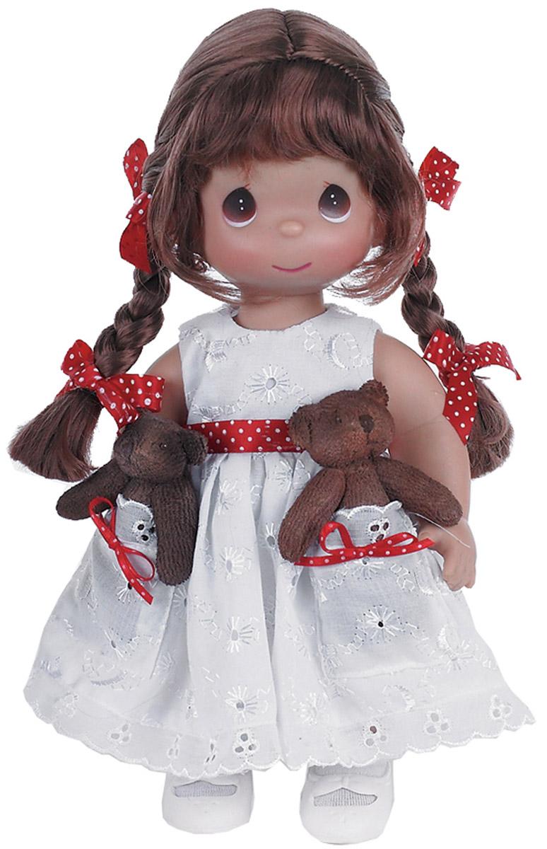 Precious Moments Кукла Друзья в кармашке брюнетка куклы и одежда для кукол precious кукла горошинка брюнетка 30 см