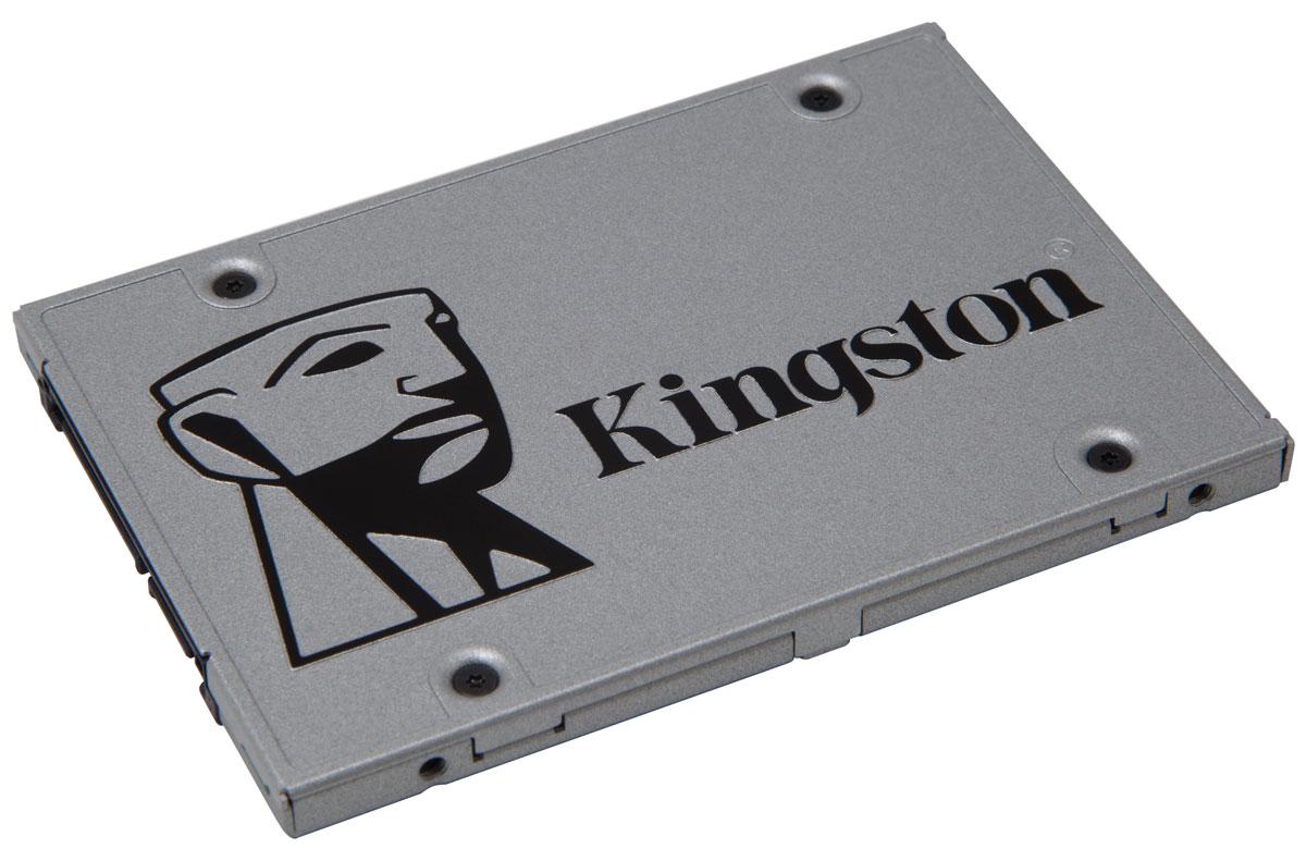 Kingston UV400 480Gb SSD-накопитель (SUV400S3B7A/480G)SUV400S3B7A/480GSSD Kingston UV400 оснащен четырехканальным контроллером Marvell и обеспечивает потрясающую скорость работы и повышенную производительность по сравнению с механическими жесткими дисками. Он значительно повышает скорость работы вашего компьютера и в 10 раз быстрее, чем жесткий диск со скоростью 7200 об/мин.UV400 более надежен и долговечен, чем жесткий диск; он изготовлен с использованием флеш-памяти, поэтому он имеет ударопрочную конструкцию, устойчив к вибрациям и менее подвержен сбоям, чем механический жесткийдиск. Его надежность делает этот накопитель идеальным выбором для ноутбуков и других мобильных цифровых устройств. Для удобства установки UV400 поставляется со всем необходимым для установки SSD в вашу систему - корпус с USB-разъемом для передачи данных, адаптер 2-3,5 дюйма для монтажа в настольном компьютере, кабель передачи данных SATA и купон на загрузку ПО Acronis для переноса данных.UV400 предоставляет достаточно пространства для хранения всех ваших файлов, приложений, видео, фотографий и других важных документов. Он станет альтернативой жесткому диску.